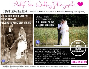 ArtbyClaire Weddings Flyer August 2015