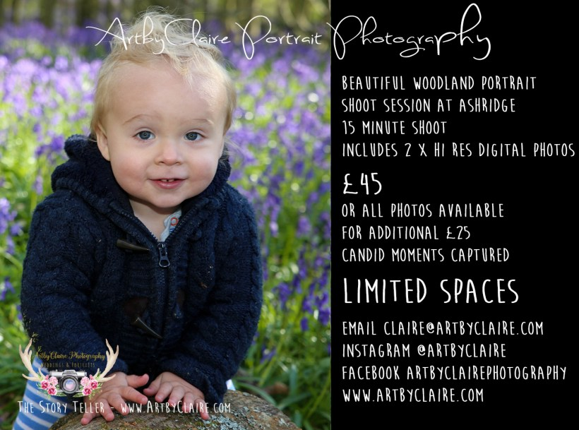 Bluebell Woods Photography by ArtbyClaire - special shoot offer