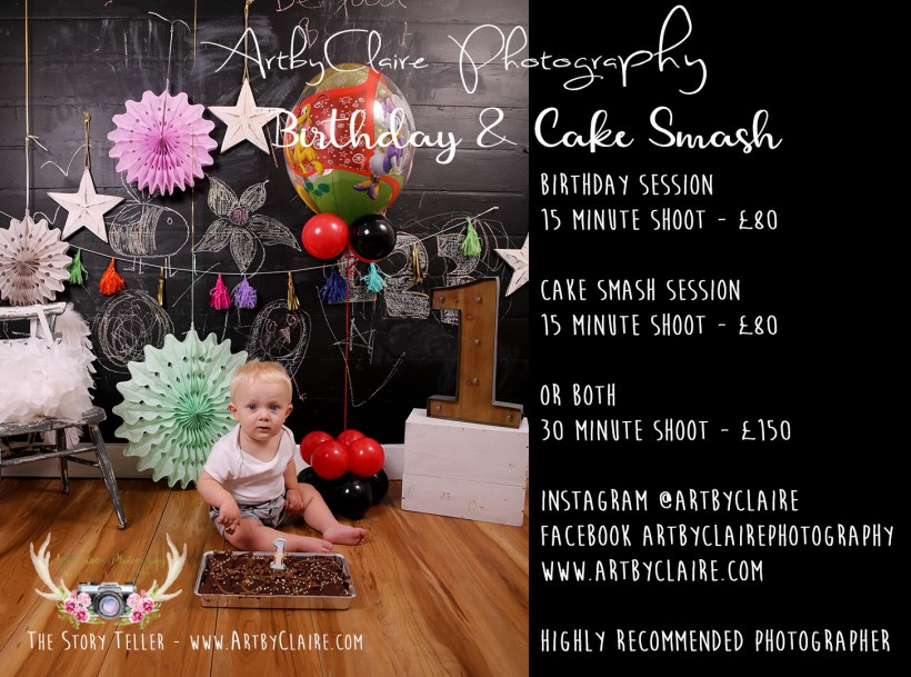 Birthday & Cake Smash Shoot Session by ArtbyClaire Photography