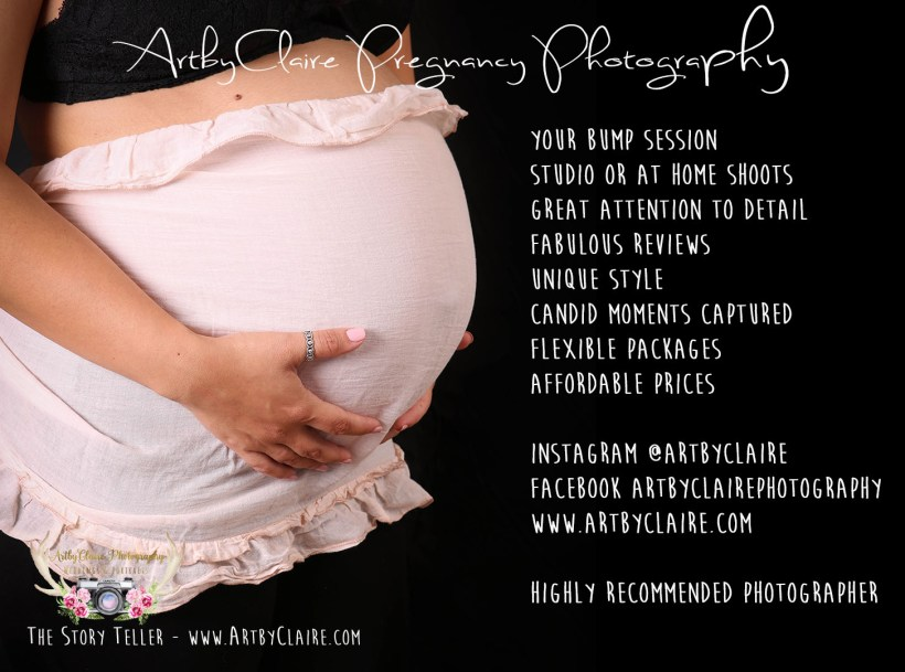 Pregnancy & Bump Session Shoot by ArtbyClaire Photography
