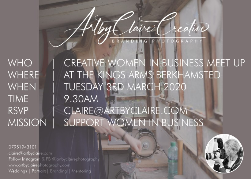 ArtbyClaire Creative Branding Photography meet up, The Kings Arms Berkhamsted