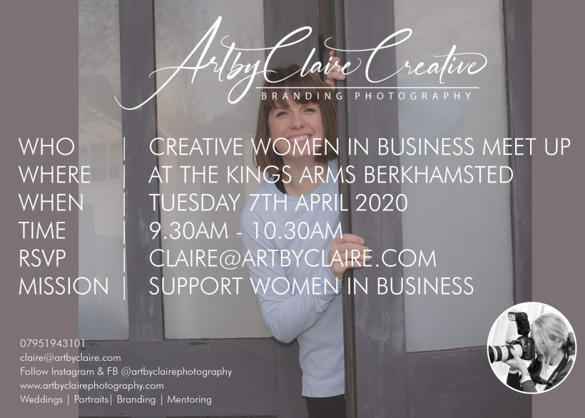ArtbyClaire Creative Branding for women in business meet up