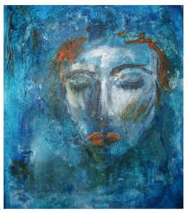 Acrylic Panel 37x43 cm - Blue She