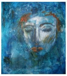 Acrylic Panel 37x43 cm - Blue She