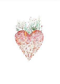Growing heart 25$ A4 Print