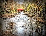 The Covered Bridge and The Creek