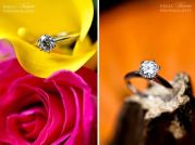 vibrant-hot-pink-yellow-roses-brilliant-round-diamond-engagement-ring-orange-backdrop-with-diamond-ring-on-wood__full