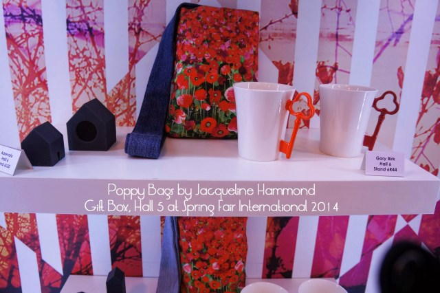 Poppy Bags by Jacqueline Hammond featured in the Gift Box at Spring Fair - retail trend for 2014/15