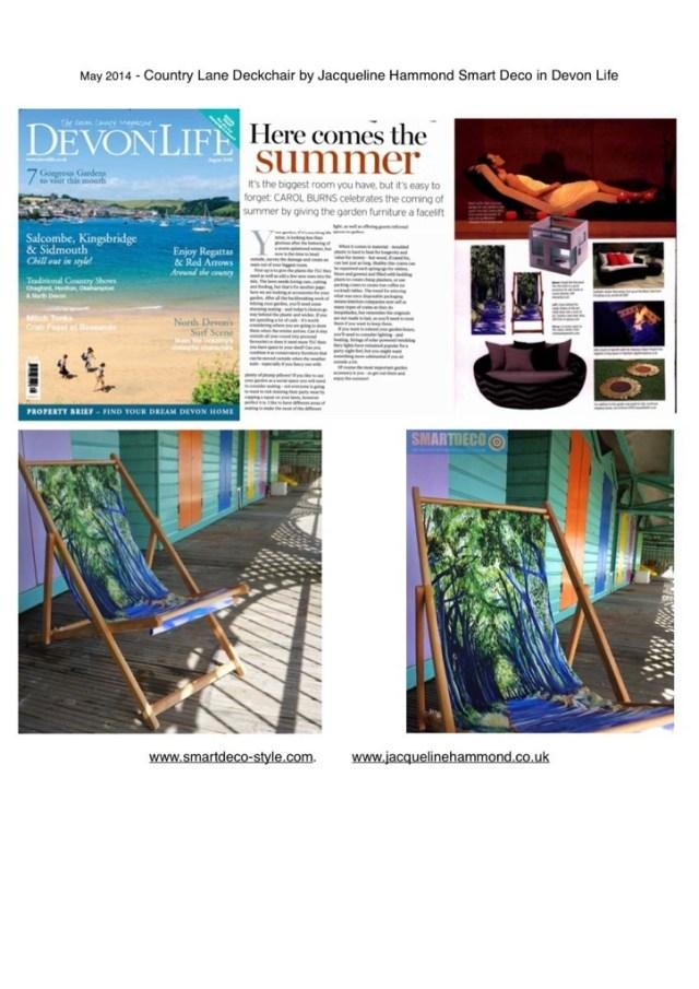 Country lane Deckchair by Jacqueline Hammond in Devon Life Magazine