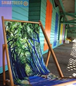 Country Lane deckchair by Jacqueline Hammond