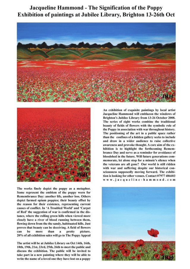 JRH poppy exhibition leaflet - poster
