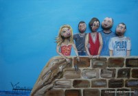 Pebble Head Portrait by British artist Jacqueline Hammond