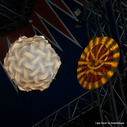 Glastonbury Festival 2017 Smarty lamps lights in the Theatre and Circus Stage Tents