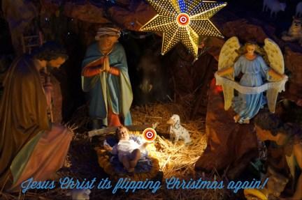 Jesus Christ its Christmas Again - Dear oh Deer Xmas cards designed by Jacqueline Hammond for SmartDeco https://www.smartdecostyle.com/ Shareable Content Copyright©2014 Jacqueline Hammond