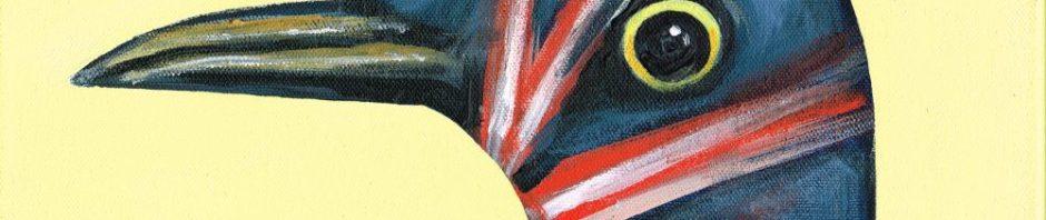 Stuffed Series-Birds-Bristol Museum- Brexit Bird-Jacqueline Hammond-painting