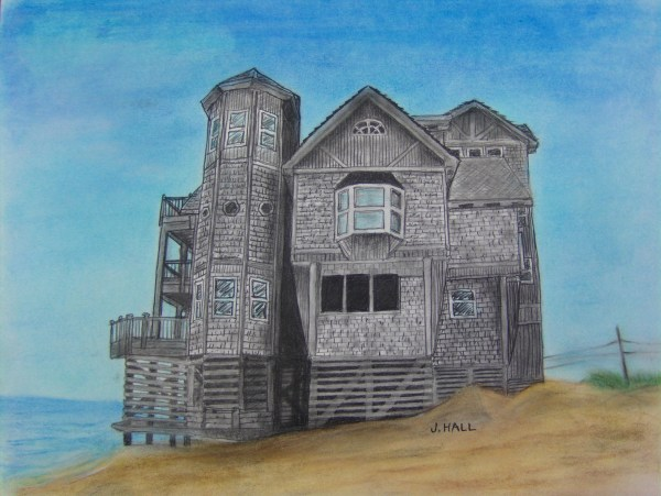 Beach House Pastel Art