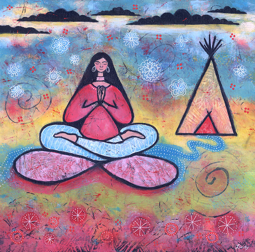 yoga tipi painting by Lindy Gaskill