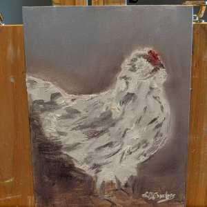 Ava chicken portrait
