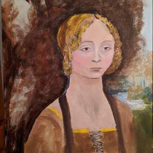 Reproduction of Davinci's Portrait of Ginevra de' Benci