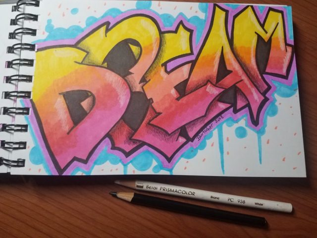 How to Draw Graffiti Letters for Beginners - Art by Ro