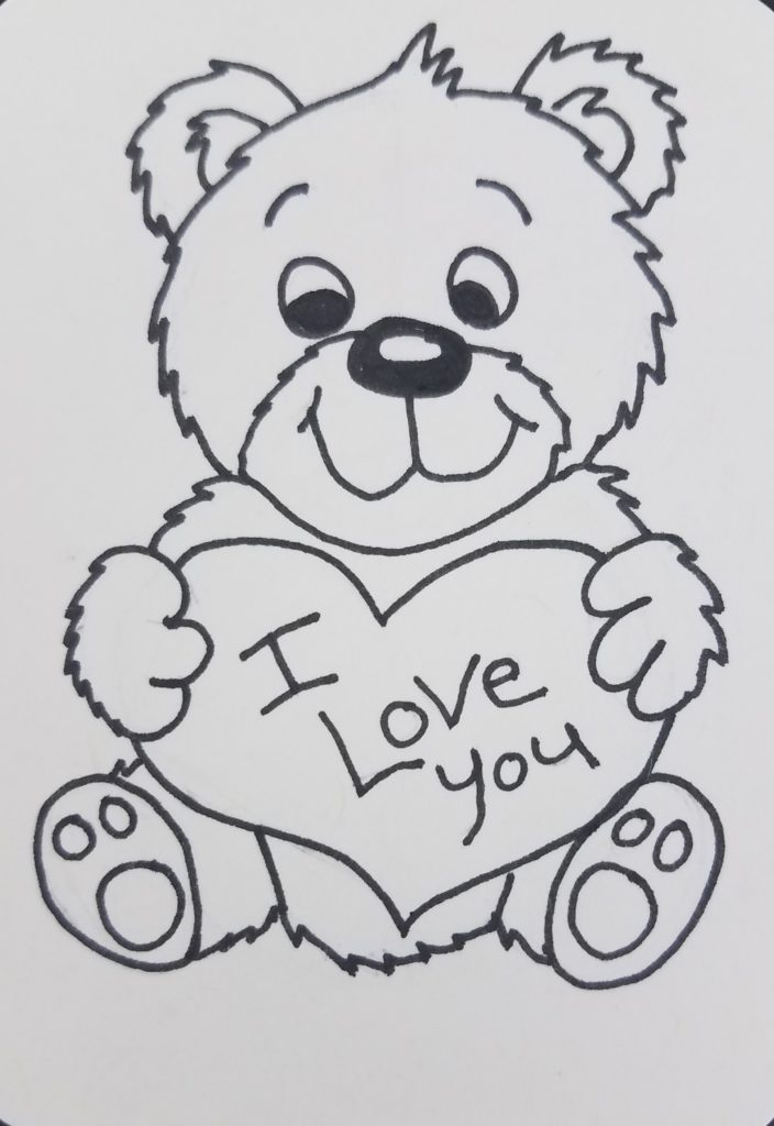 How To Draw A Teddy Bear With A Heart Easy Step By Step Art By Ro