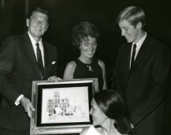 Scott Kennedy with Ronald and Nancy Reagan 1967