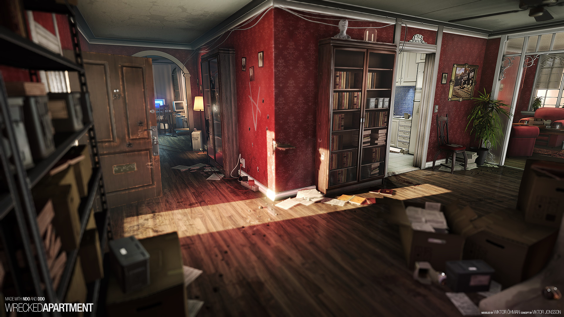 CE3 Wrecked Apartment  polycount