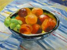 Tanny's fruit bowl Oil on canvas board