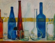 Glass collection 1 Oil on canvas