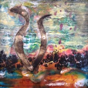 Linda Robertson - Marking the Earth 9x9 $175