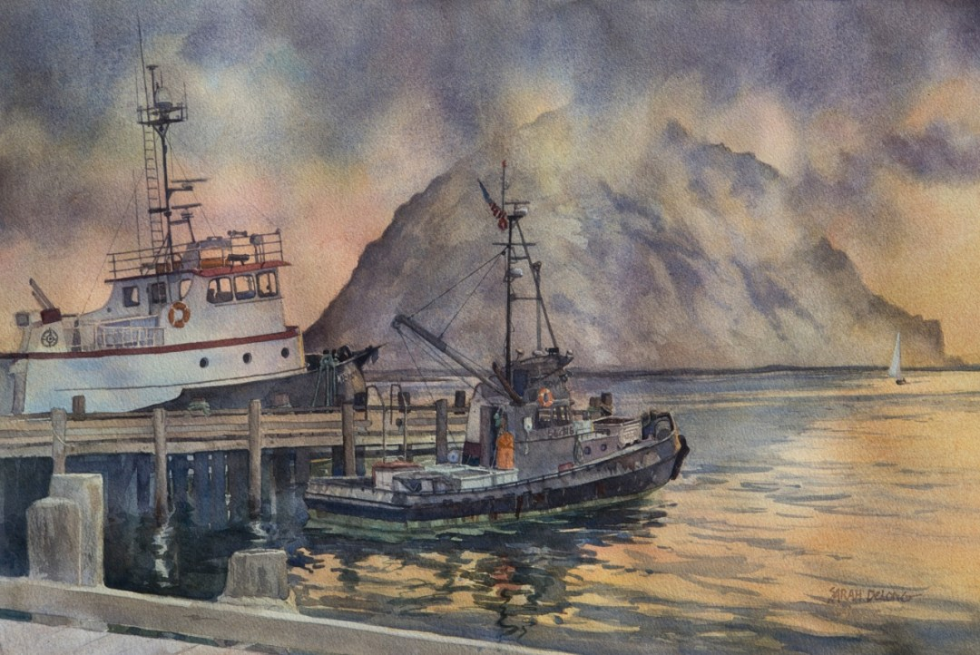 """Sarah Delong """"Evening Rest in the Harbor"""""""