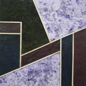 Robert Dodge - Interlocking Purples - Encaustic