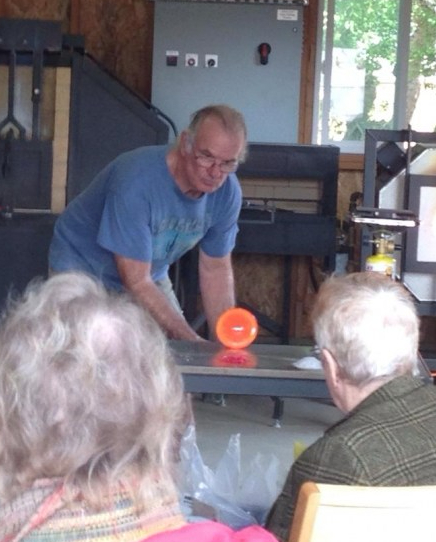 Rob Baker Glass Blowing OSAT Spring 2018