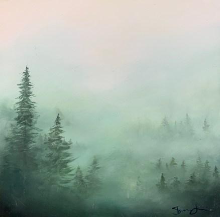 Shauna Jellison - Misty Dusk on Palomar #3 - oil on wood - 200
