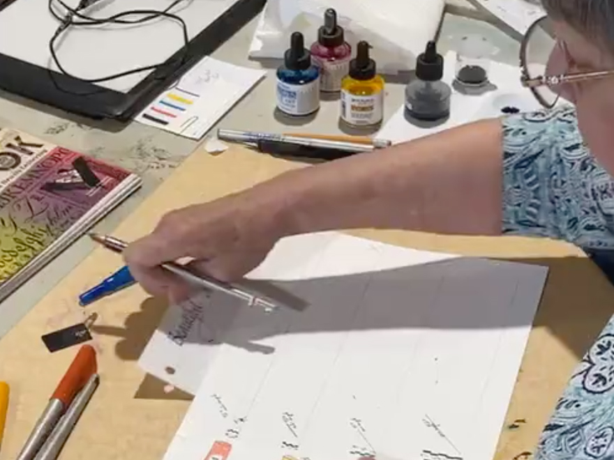 Mary Lou Johnson - Pilot Parallel Pen Demo