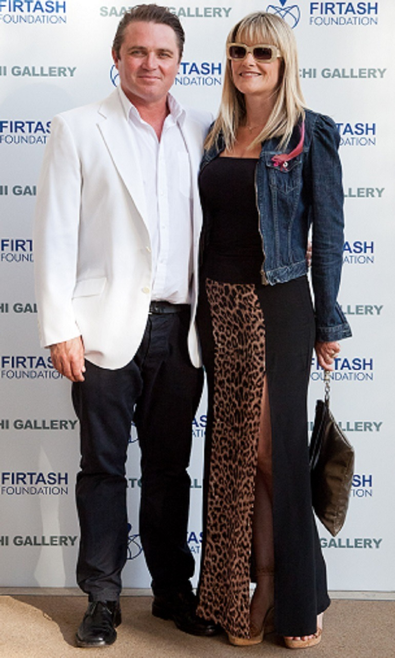 Image- Photo of  actor Alex Ferns, with a beutiful guest at the art part