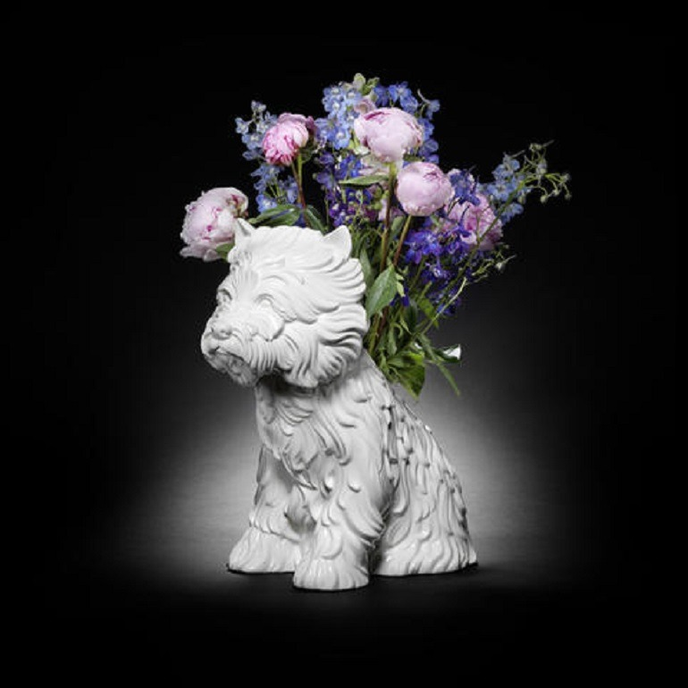 Image- Dog Sculpture- Jeff Koons Puppy (Vase) is one of iconic images for sale at Bonhams Prints and Multiples Sale in London