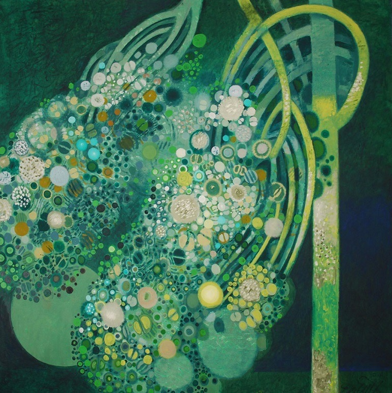 Image: Beautiful flower rendition by Abolghassem Saidi is part of Iran Modern at the Asia Society in New York