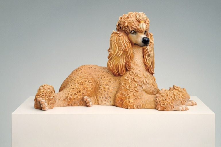 Image: Jeff Koons, sculpture titled Poodle on display at the Whitney Museum of American Art, New York