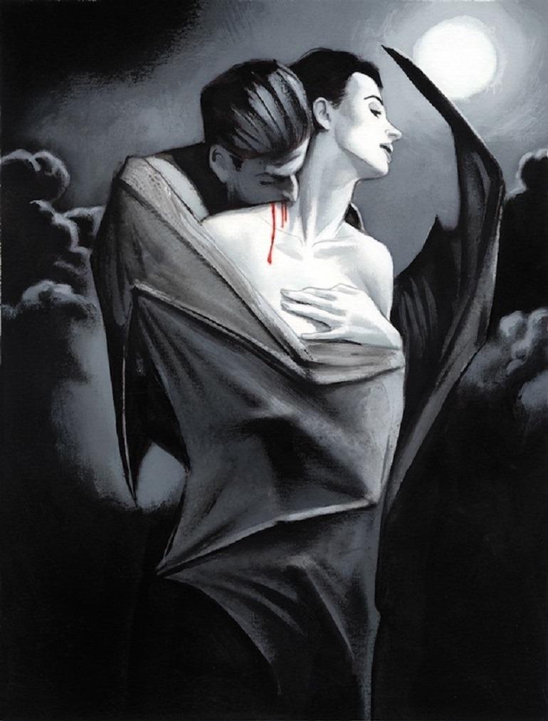 vampire bat drawings