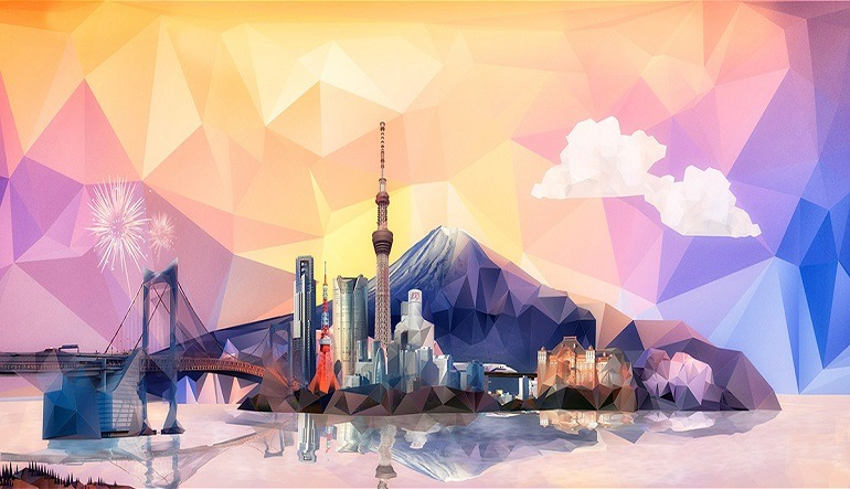 Image: Visual for Adobe Submit 2014 in Singapore designed by Vasava includes famous landmarks like Tokyo Tower, The Rainbow bridge