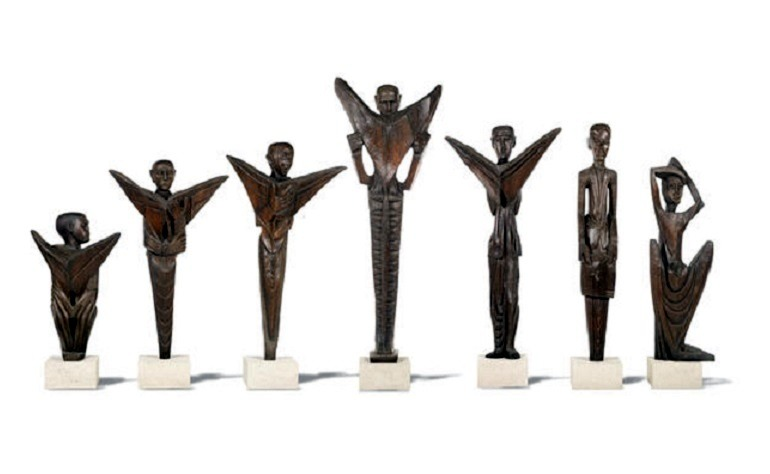 Image: Seven wooden sculptures by Ben Enwonwu was commissioned by the Daily Mirror in 1960-News