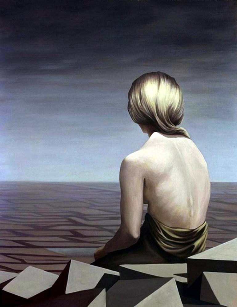 Image: Le Passage  by Kay Sage captures a half nude woman looking  at the horizon is one the works by female artists that made great impact  at the auction-Art