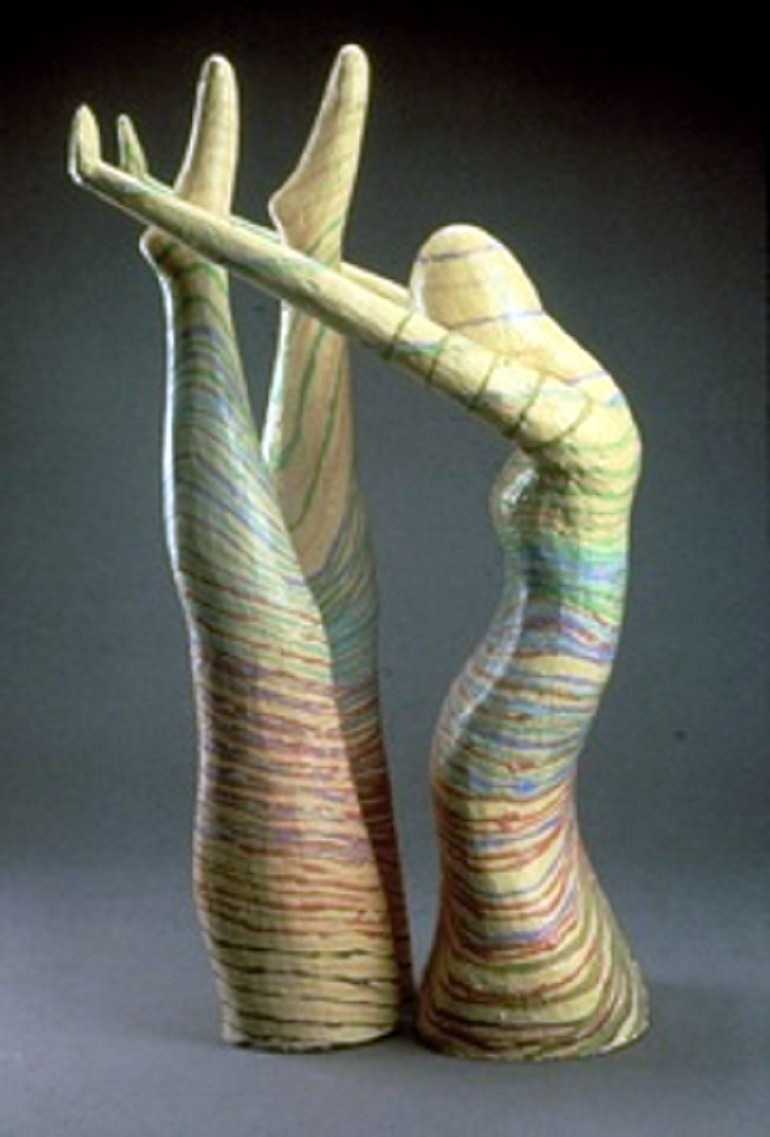 Image: Acrobat, Earthenware Ceramics arts and crafts by Jack Charney at the American Craft Council Show in Baltimore