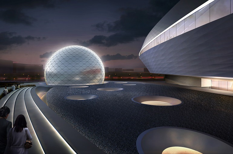 Image: Shanghai Planetarium, the new museum project by Ennead Architects 03 bridges the past with the future