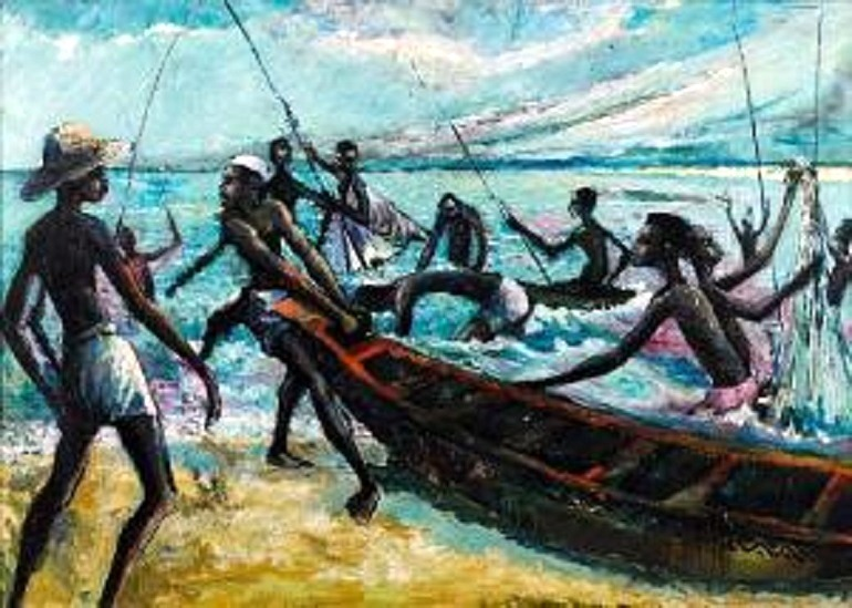 Image: Ben Enwonwu, Fishermen, oil on board, is one of the works by African artists that made great impact at Africa Now