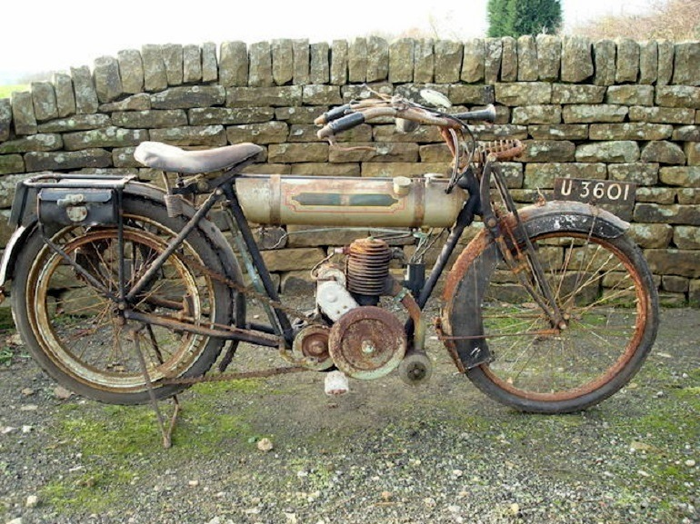 Image: 1921 Triumph 225CC Junior. Registration no. U 3601-Motorcycles.