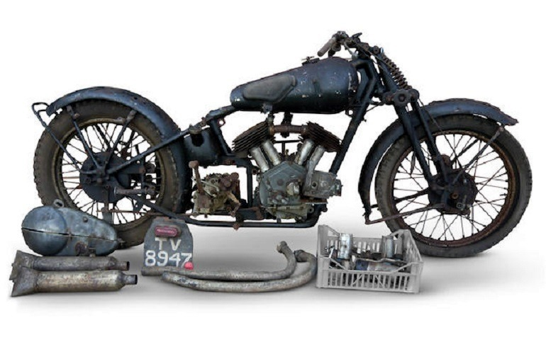 Image: 1933 Brough Superior 1,096cc 11-50hp Project- motorcycles