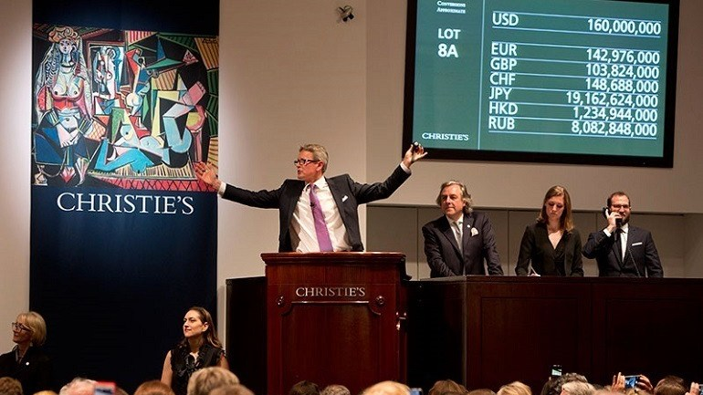 Record Auction Prices at Christie's Evening Sale in New York