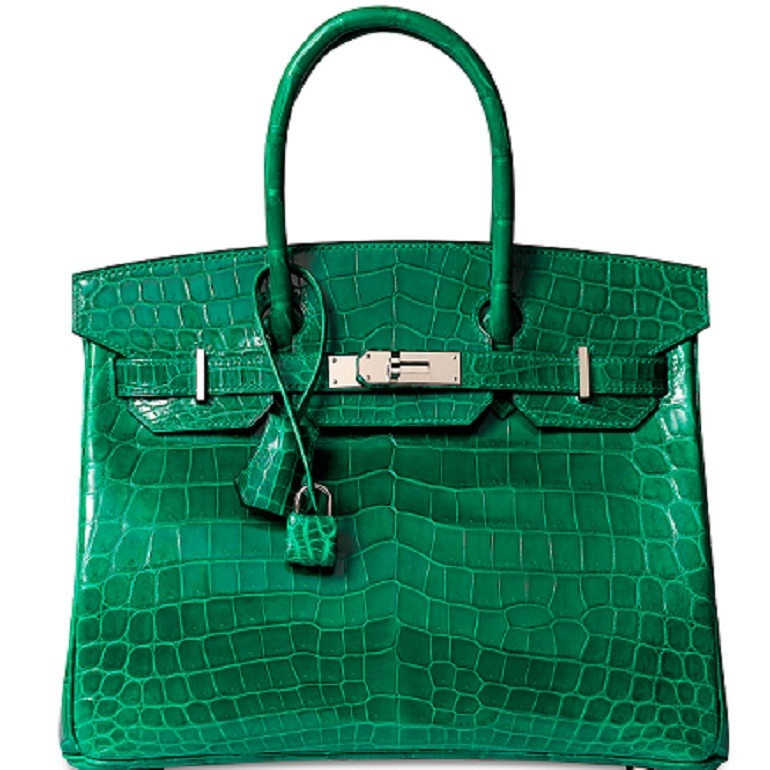 Image: A Shiny Vert Émeraude Niloticus Crocodile Birkin 30 With Palladium Hardware, Hermès, 2014, at Christie's Handbags and Accessories auction in Hong Kong